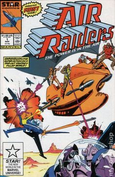 Cover for Air Raiders (Marvel, 1987 series) [Newsstand Edition] Best Comic Books, Marvel Comic Books, Comic Books Art, Book Art, Sci Fi Comics, War Comics, Power Star, Comic Covers, Raiders