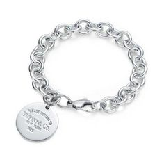 Return to Tiffany Round Tag charm Bracelet