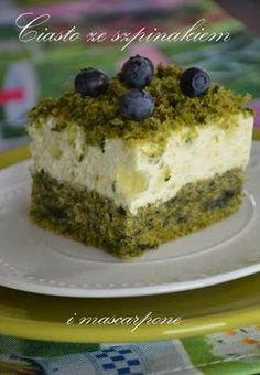 Spinach Cake, Polish Recipes, Food Cakes, Cheesecakes, Bon Appetit, Food To Make, Tart, Nom Nom, Cake Recipes