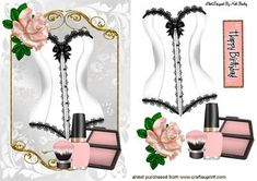PRETTY WHITE BASQUE MAKEUP AND ROSE on Craftsuprint - Add To Basket!