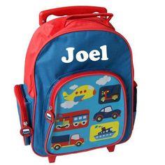 Personalised boy's trolley schoolbag, $39.95