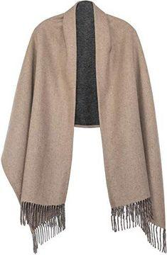 AODEK Winter Warm Shawl Scarf Dual-use Female Thick Long Wool Cloak Cloak