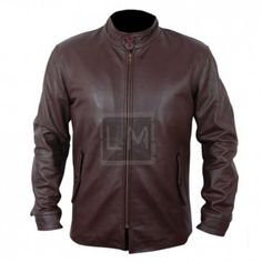 The Family Brown Leather Jacket is inspired by Robert De Niro, the jacket is made from genuine cowhide leather.  This is a great brown biker leather jacket.  Available on Sale for only $189.99.