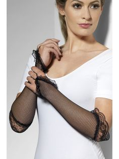 You can purchase a pair of Fingerless Fishnet Gloves for your costume in parties from the Halloween Spot. This black pair of fishnet gloves is attached with laces. Long Gloves, Black Gloves, Fancy Dress Accessories, Halloween Costume Accessories, Retro Costume, Eye Makeup Tips, Adult Halloween, Christmas Costumes, Adult Costumes