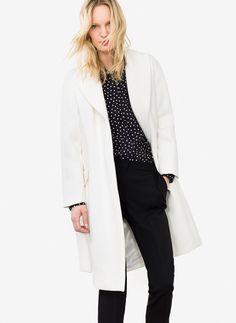 Abrigo blanco - Mid Season Sale - Uterqüe España