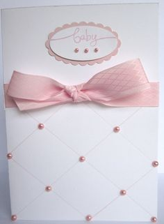Baby Girl Card - style could be used for other occasions also (ie birthday).