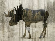 Camouflage Animals - Moose Giclee Print by Tania Bello at AllPosters.com