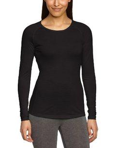 super.natural Damen Merino Funktionsshirt W Base Long Sleeve 140, Caviar, 34, SN1173001