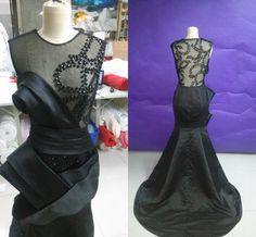 black prom dresses.mermaid prom dresses.sexy prom dresses.see through prom dresses.prom dresses 2015.unique prom dresses.formal evening gown by Angelonlinedress on Etsy