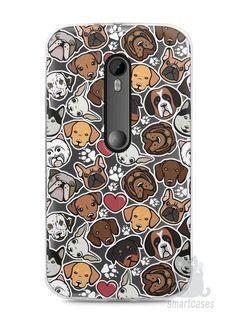Capa Moto G3 Cachorros - SmartCases - Acessórios para celulares e tablets :)