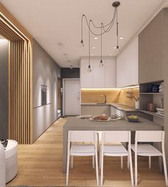 25 easy simple kitchen design ideas you must try 19 Simple Kitchen Design, Kitchen Room Design, Kitchen Dinning, Living Room Kitchen, Kitchen Layout, Home Decor Kitchen, Interior Design Living Room, Home Kitchens, Rustic Kitchen
