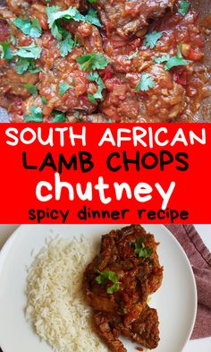 This lamb chops chutney recipe is full of flavor, spicy, satisfying and so delicious that it will have you going back for seconds. If you are craving for a South African dinner recipe, you can't pass on this Quick & Easy Durban chops chutney! Lamb Chops Marinade, Lamb Loin Chops, Grilled Lamb Chops, Lamb Chop Recipes, Spicy Recipes, Dinner Ideas, Dinner Recipes, Lamb Dinner, South African Recipes