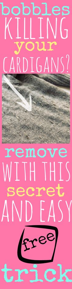 FASHION DIY FIX: You will never guess this amazing trick for removing bobbles from your knitwear! And nope it doesn't involve razors. Pin now and get your knitwear in tip top condition for winter. | A Thrifty Mrs