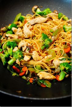 Easy Chicken Lo Mein - Looks good and an easy - to - follow recipe!