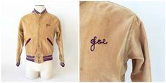 Vintage Corduroy Letterman Jacket / 1950's by fourBvintage on Etsy