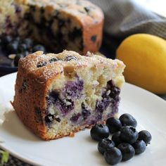 Blueberry Lemon Ricotta Tea Cake - tender, delicious cake bursting with fresh blueberries. Will be great with blackberries or any other seasonal berry! Easy Cake Recipes, Baking Recipes, Sweet Recipes, Dessert Recipes, Cheesecake Recipes, Blueberry Desserts, Blueberry Cake, Just Desserts, Tea Cakes