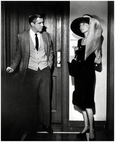 Audrey Hepburn & George Peppard (Breakfast at Tiffany's) 1961 b
