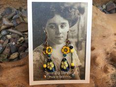 Boho Rustic Artisan Handmade tin earrings by Bohemystic on Etsy