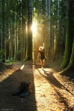Dancing in the woods light girl outdoors sun woods dance