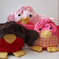 Bird bags - so easy to sew!!
