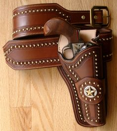 Western Gun Holsters | hawk holster color golden holster style hawk tooling pattern scroll ...