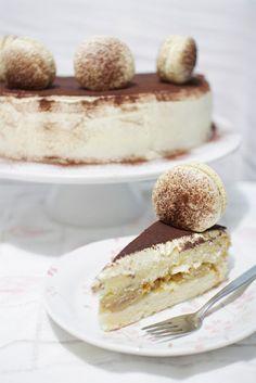 Tiramisu chiffon cake and macarons