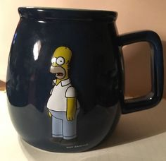 2004 The Simpsons Homer Simpson 3D Design Coffee Mug Cup Fox I Don't Care  | eBay