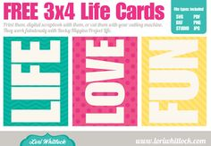 Set of cards that will work beautifully with Project Life. They are sized perfectly to fit in the PL sheet protectors. Project Life Scrapbook, Project Life Album, Project Life Cards, Project 365, Life Journal, Journal Cards, Pocket Scrapbooking, Scrapbook Cards, Levitation Photography