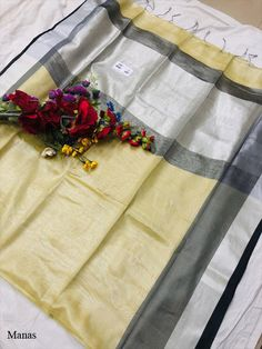 Manas Silver Linen Saree, Such Saris women use to wear on Formal Wear, Normal Occasion Wear at Online Lowest Wholesale Price Shipping Worldwide Tussar Silk Saree, Western Outfits, Occasion Wear, Formal Wear, Ethnic, Weaving, Sari, Stitch, Clothes For Women