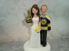 Bride & Groom Boston Bruins Fans Custom Wedding Cake by mudcards, $126.00 I don't normally pin anything wedding related but this is awesome