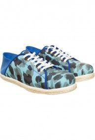 Zapatillas camuflado azul