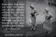 Catholic Quotes - St Francis of Assisi