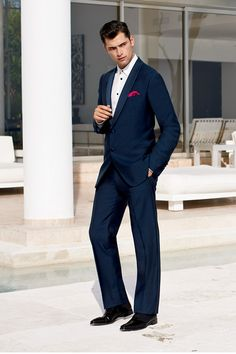 Sean O'Pry for Saks Fifth Avenue Spring 2013 - Elegant Armani Suits, Sean O'pry, Beautiful Suit, Elegant Man, Tuxedo For Men, Dapper Men, Effortless Chic, Down South, Gentleman Style