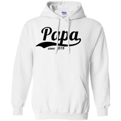 Papa-since-2016 Pullover Hoodie 8 oz