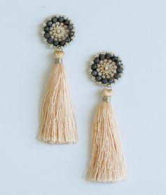 P&P 01-130-3900 Tassel Earrings Nude