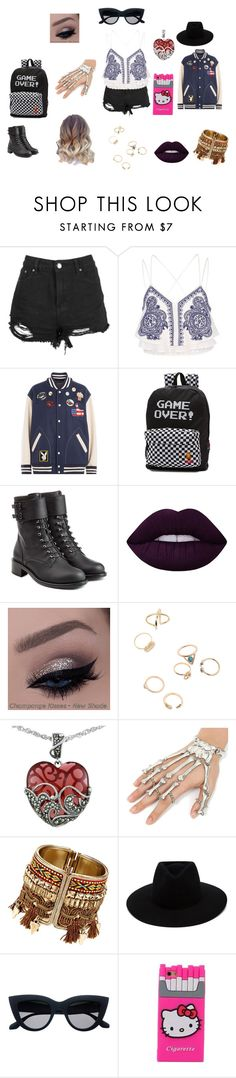 """""""Lydia"""" by anny-699 ❤ liked on Polyvore featuring River Island, Marc Jacobs, Vans, Philosophy di Lorenzo Serafini, Lime Crime, Lord & Taylor, rag & bone and Hello Kitty"""