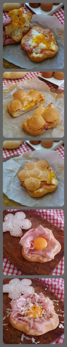 Panino con uova e prosciutto cotto. Egg burger glutenfree http://blog.giallozafferano.it/zeroglutine/panino-con-uova-e-prosciutto/