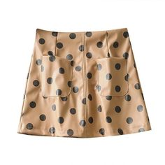 Stylish Polka Dot Leather Mini Skirt – Nads Shoes Leather Mini Skirts, Leather Fashion, Polka Dots, Stylish, Casual, Pattern, Clothes, Shoes, Women