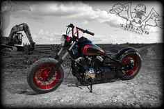 2000 yamaha v-star 650 - after | photo - notstock photography | tail end customs