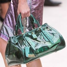 Burberry/ PVC Blaze Bag. Launching: Spring 2013  Read more on veryfirstto.com