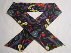"""Extra Wide 3"""" Reusable Non-Toxic Cool Wrap / Neck Cooler  - Peppers - Purple & Red Peppers on Black - CLEARANCE by ShawnasSpecialties on Etsy"""