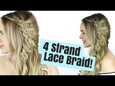 Welcome to my 4 Strand Lace Braid hair tutorial! I love this more intricate braided hairstyle and I hope you do too! This is a cool braid hair style that can...