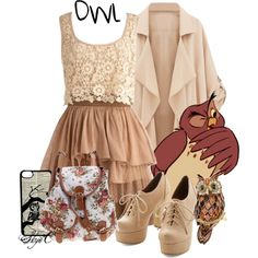 Owl - Spring - Disney's Winnie the Pooh by rubytyra on Polyvore featuring But Another Innocent Tale, CellPowerCases, Spring, owl, disney, disneybound and winniethepooh