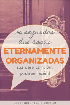 Sabe a casa daquele amigo ou parente seu que vive organizada? Home Binder, Flylady, Personal Organizer, Konmari, Life Organization, Home Hacks, Getting Organized, Clean House, Good To Know