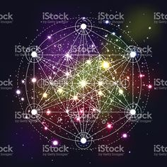 Mystical geometry symbol on space background. royalty-free stock vector art