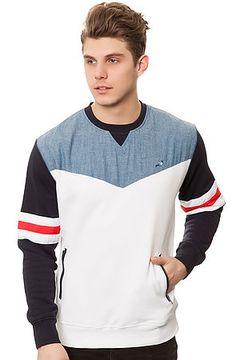 Staple Sweatshirt The Powell Blocked Crewneck in Navy - Karmaloop.com