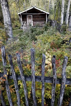 The Robert Service cabin, Dawson City, Yukon, Canada