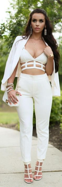 Caged All White / Fashion by The Beauty Bybel