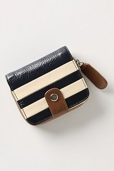 striped wallet