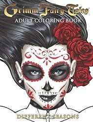 """Grimm Fairy Tales Adult Coloring Book. """"Different Seasons"""" Best Halloween and Fall Coloring Books for Adults"""